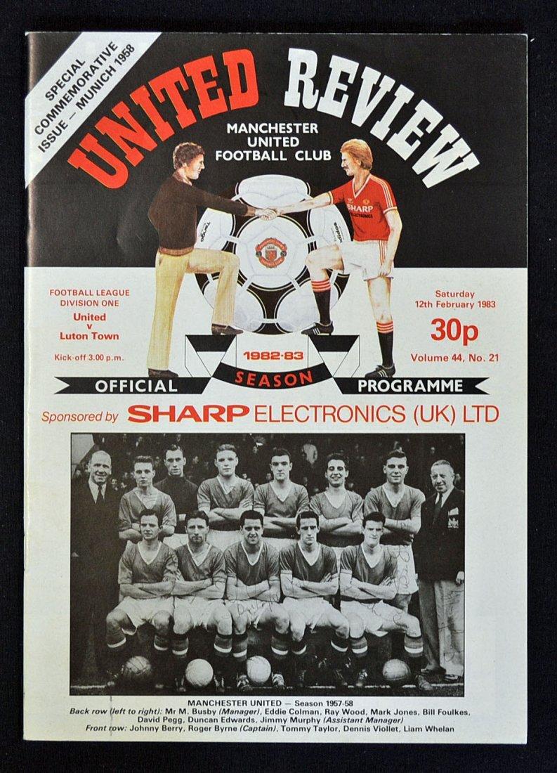 Very Scarce football programme: Manchester Utd v L