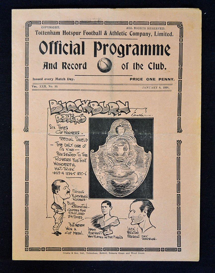 1937/38 Tottenham Hotspur v Blackburn Rovers FA Cu