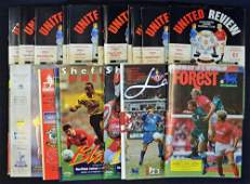 Manchester Utd programmes for 1st season Premier L