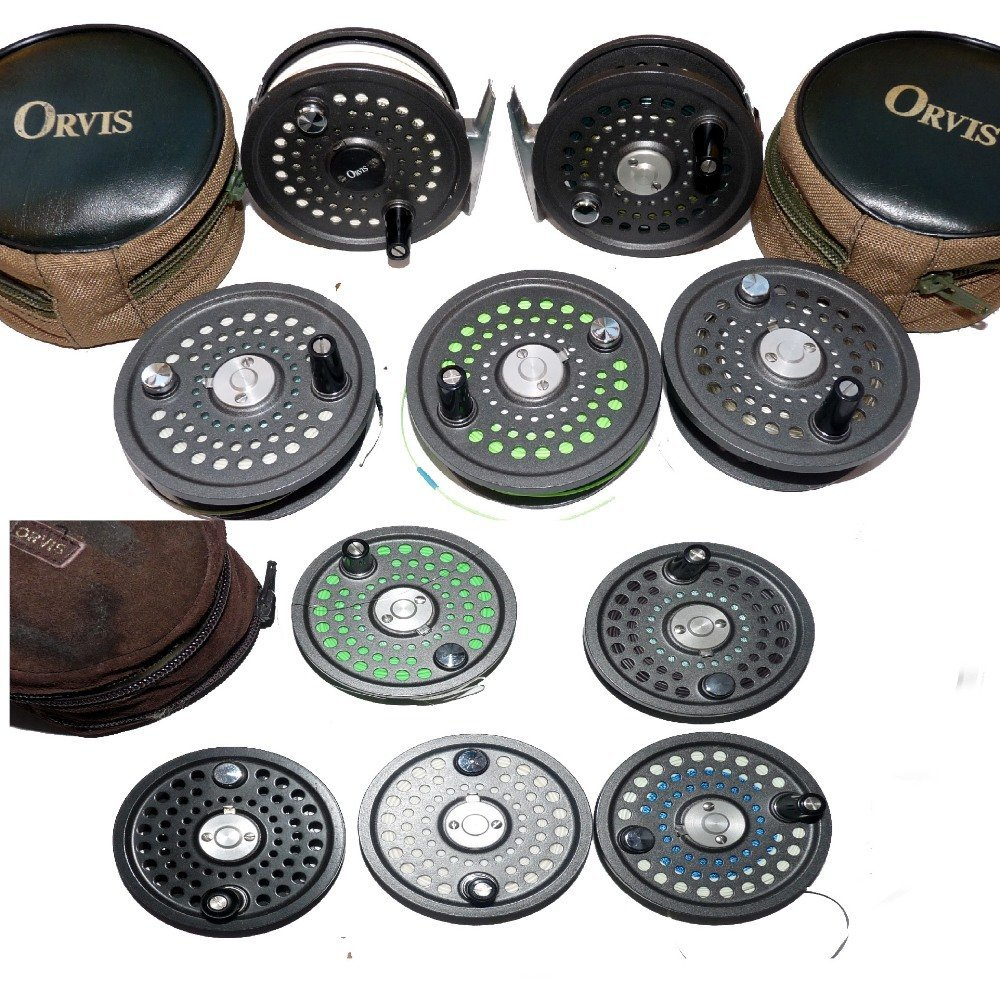 REELS: (2) & SPOOLS: (8) Pair of Orvis Batten