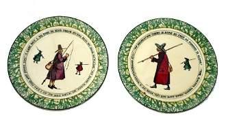 CERAMICS 2 Pair of Royal Doulton Isaac Wal