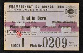 World Cup Final Ticket 1954, West Germany v Hungar