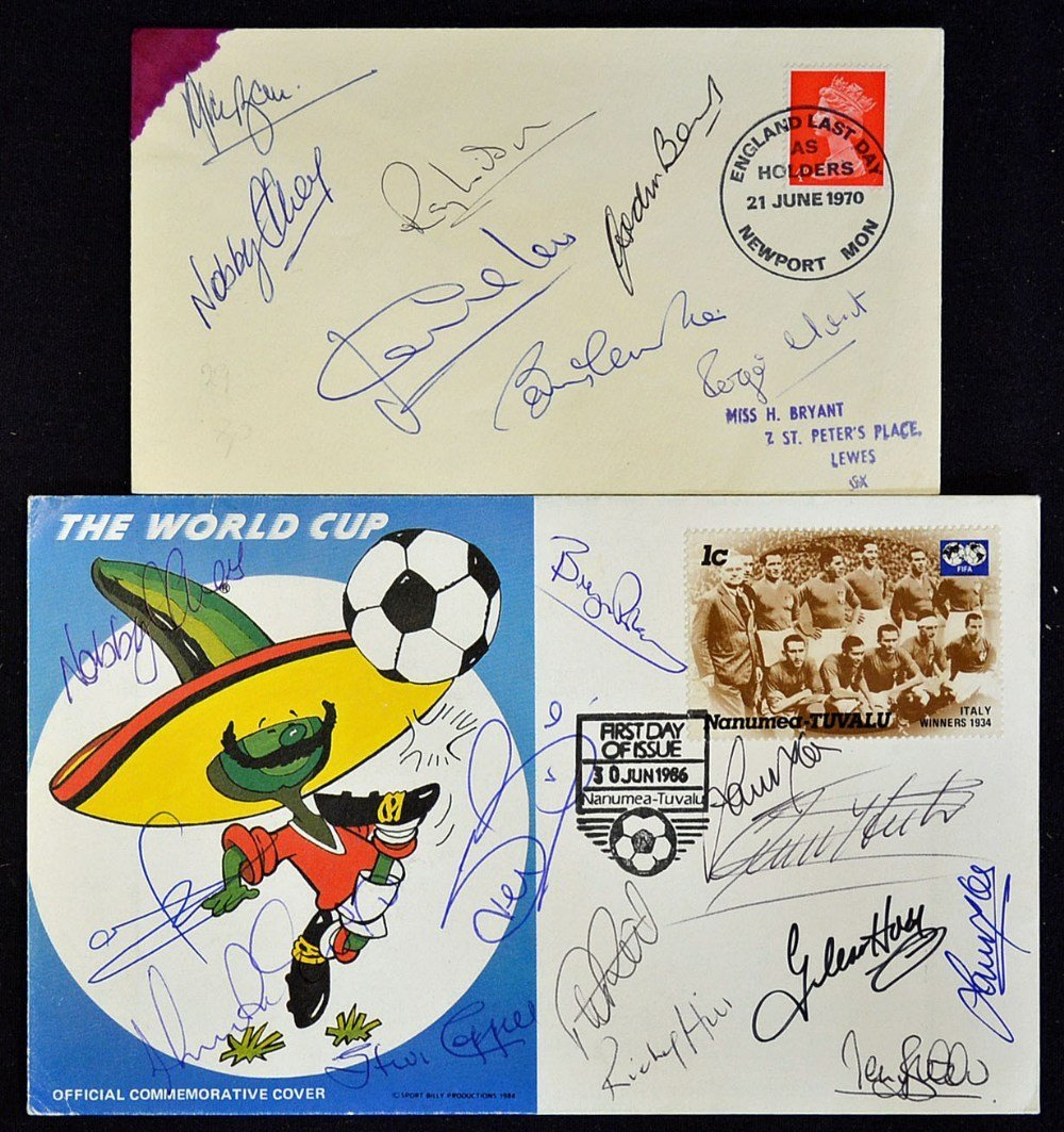 1966 Football World Cup Signed First Day Covers he