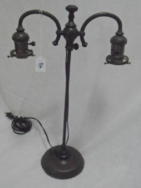 2 Arm Tiffany Boudoir Lamp