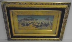 2 Watercolors in Aesthetic Frames Signed Wagner