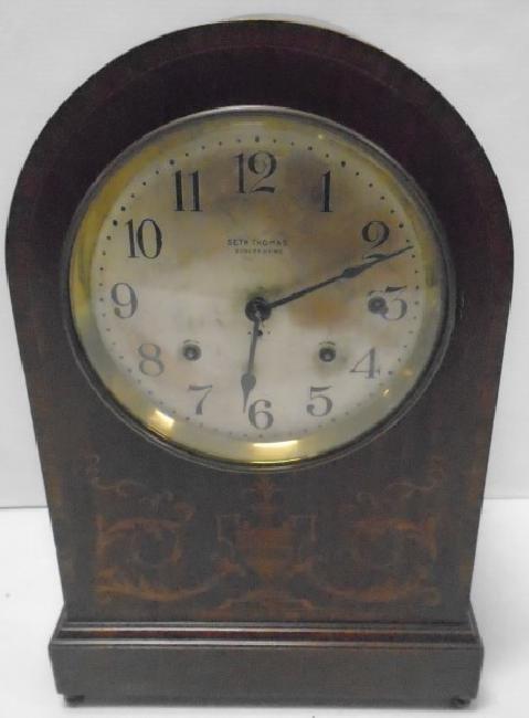 Large Inlaid Seth Thomas Sonora Chime Clock