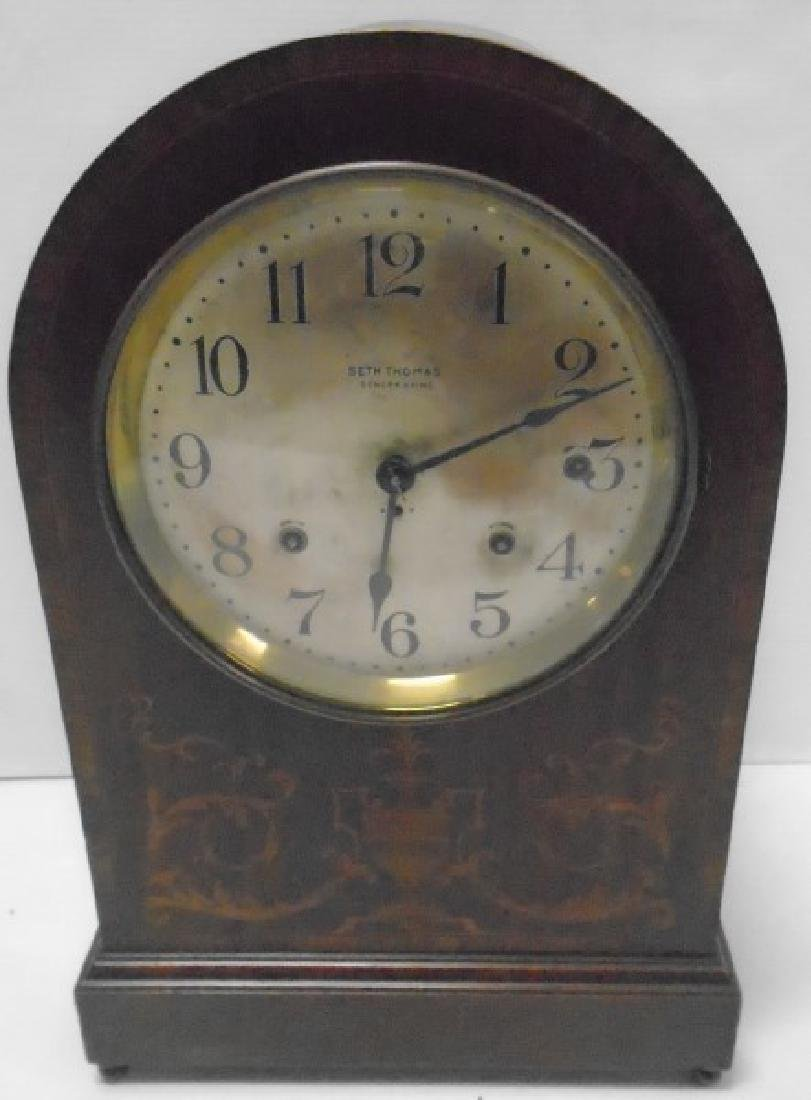 Large Inlaid Seth Thomas Sonora Chime Clock