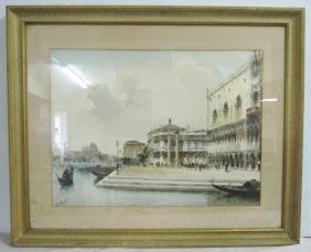 Pr Venetian Watercolors, Framed and Sgnd