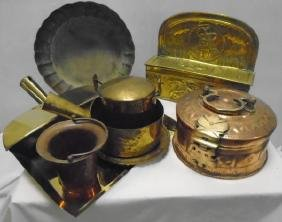 8 Pc Copper and Brass Lot