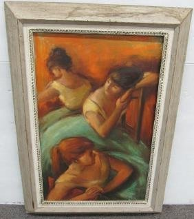 "Framed O/C ""3 Dancers"" sgnd de Ruth"