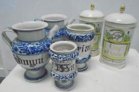 6 Apothecary Jars, French & Delft