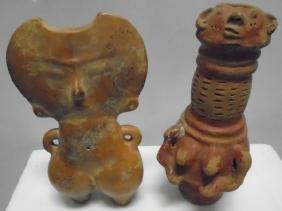 2 Terra Cotta African Items