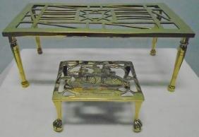 2 Brass Trivets