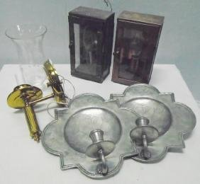 6 Pc Lot, Pewter and Brass