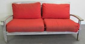 3 Pc. Teak Patio Set- Sofa & 2 Chairs