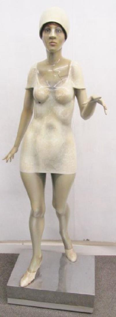 "Full Body Art Deco Mannequin on Stand, 65""H"