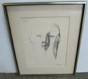 Very Interesting Drawing Signed And Dated
