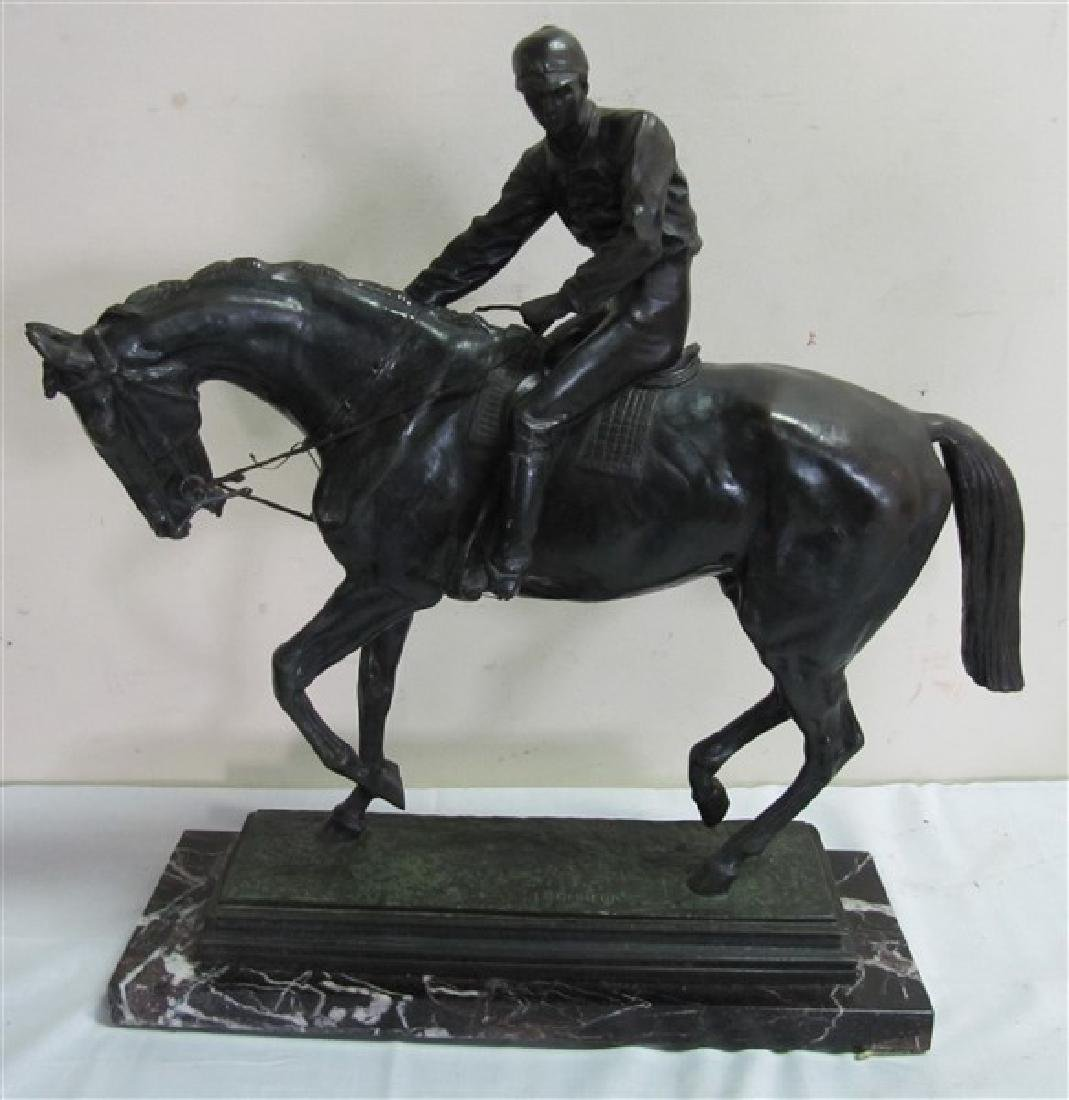 "Large Bronze, Man on Horse Back 25"" (INV39) After"
