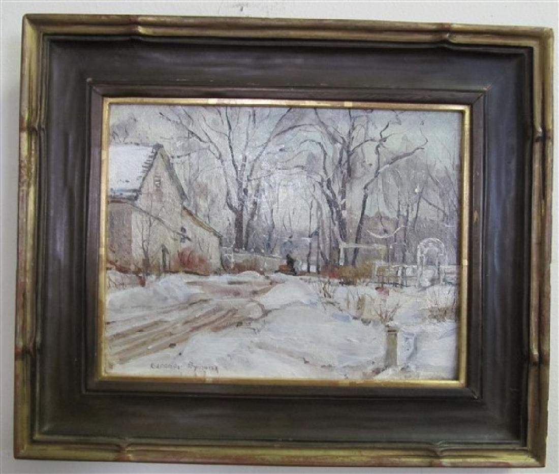 Small o/b Gardner Symons Winter Scene (INV21) George