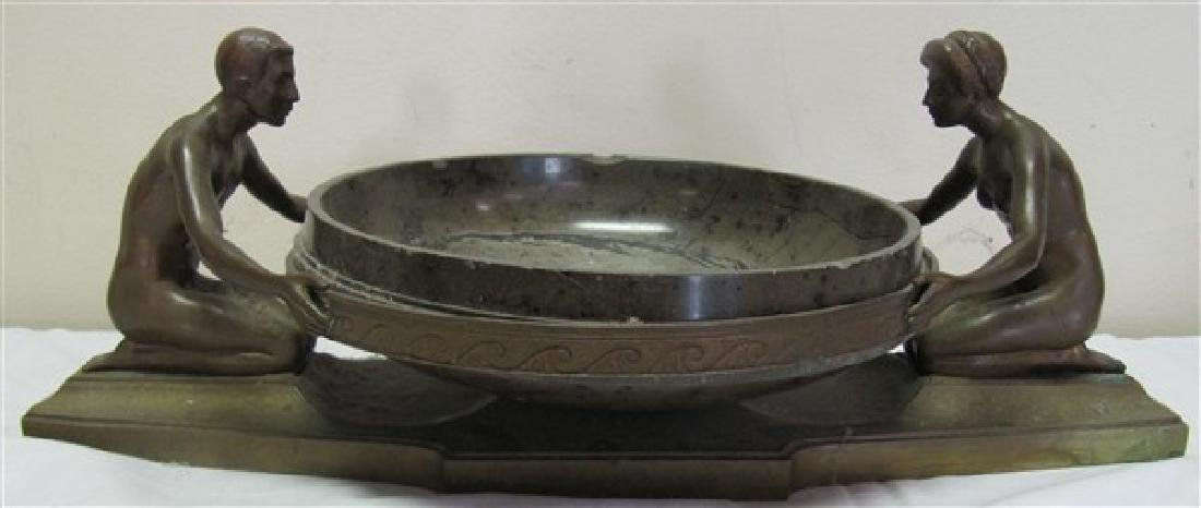 "Bronze Art Deco Bowl 9"" in the Manor of Frankart"