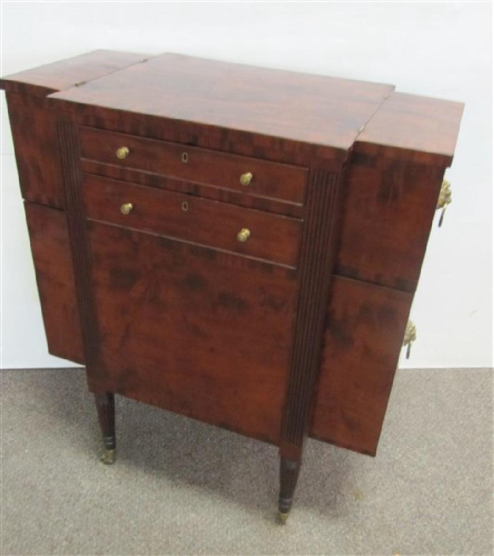 Unusual 19th Cent N.Y. Federal Sewing Stand