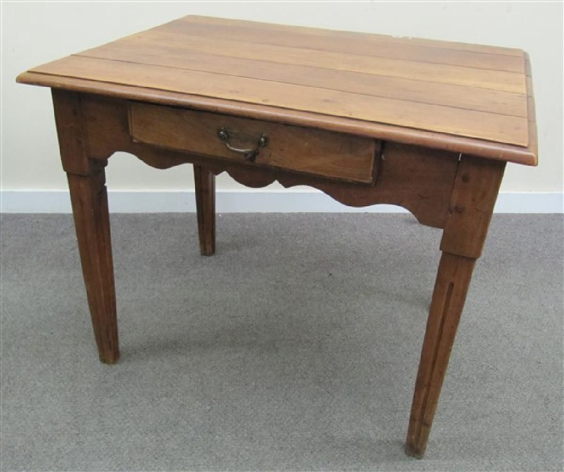 French Country 1 Drawer Table