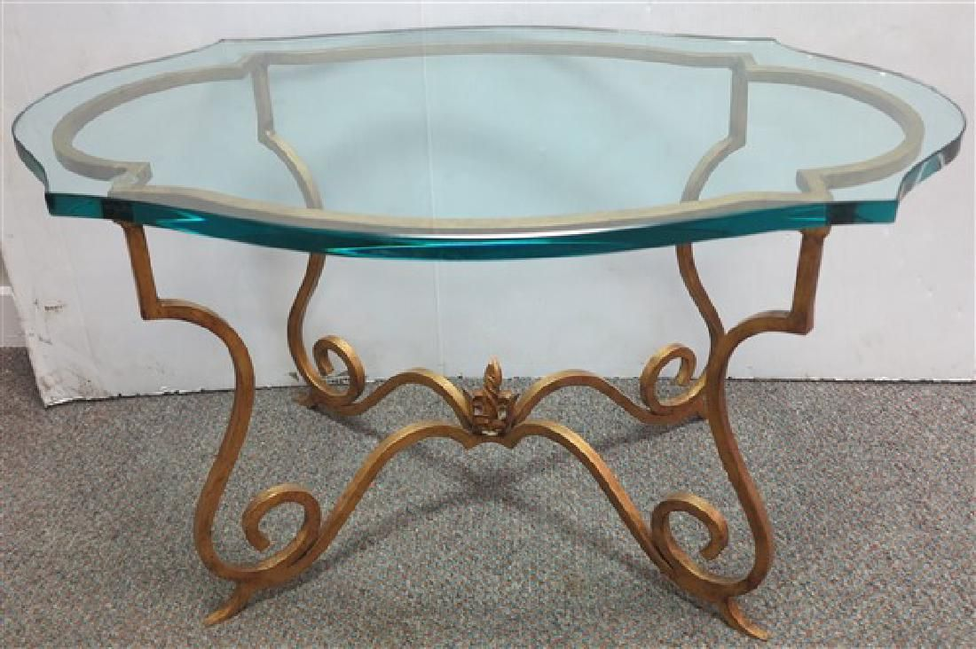 Glass Top Decorator Table