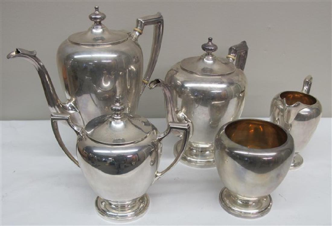 5 pc Sterling Tea Set