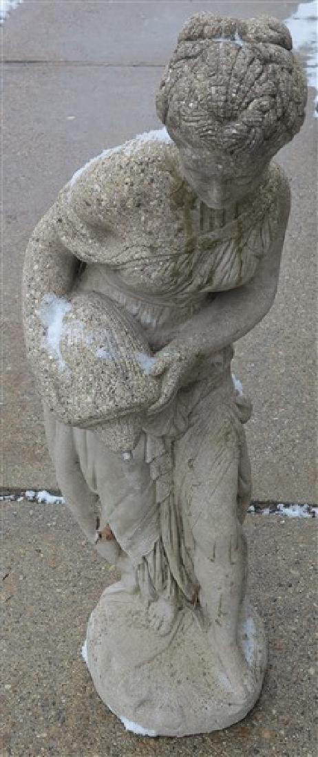 """32"""" Figural Concrete Fountain"""