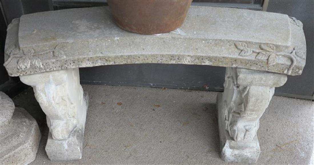 3 Part Concrete Bench