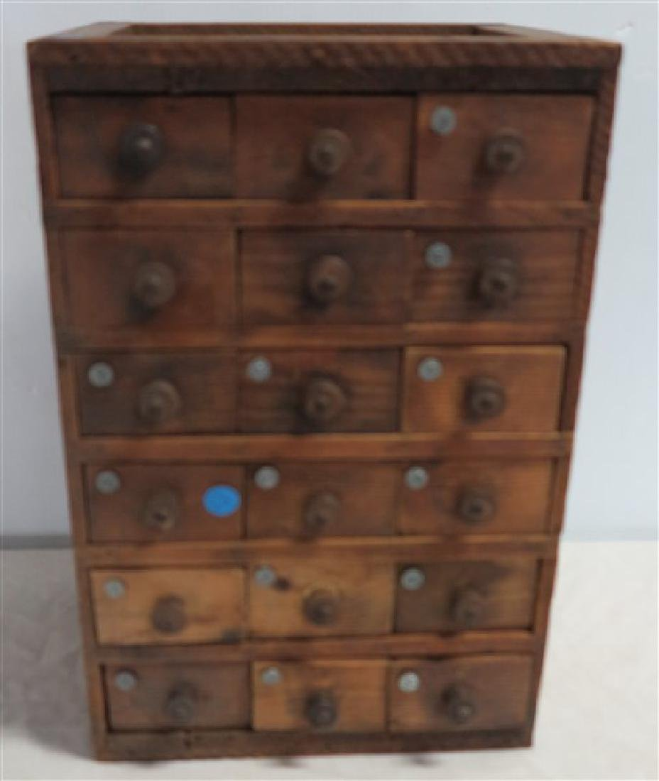 18 Drawer Table Top Cabinet