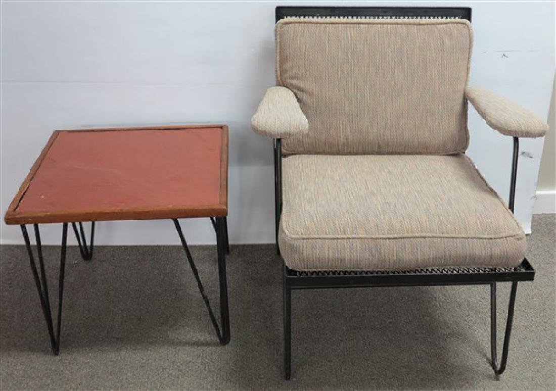 Modern Iron Chair and Table