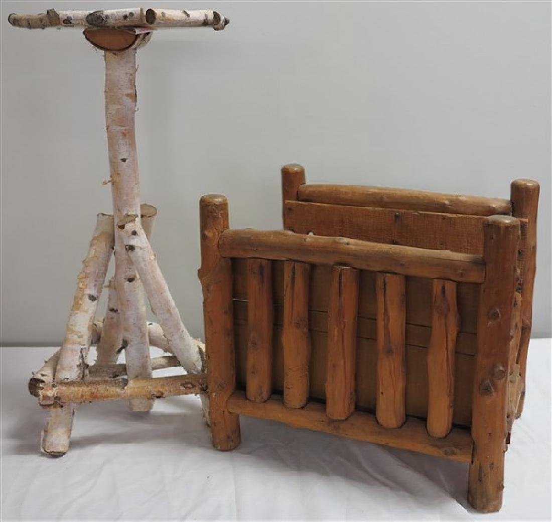 Twig Stand and Magazine Rack