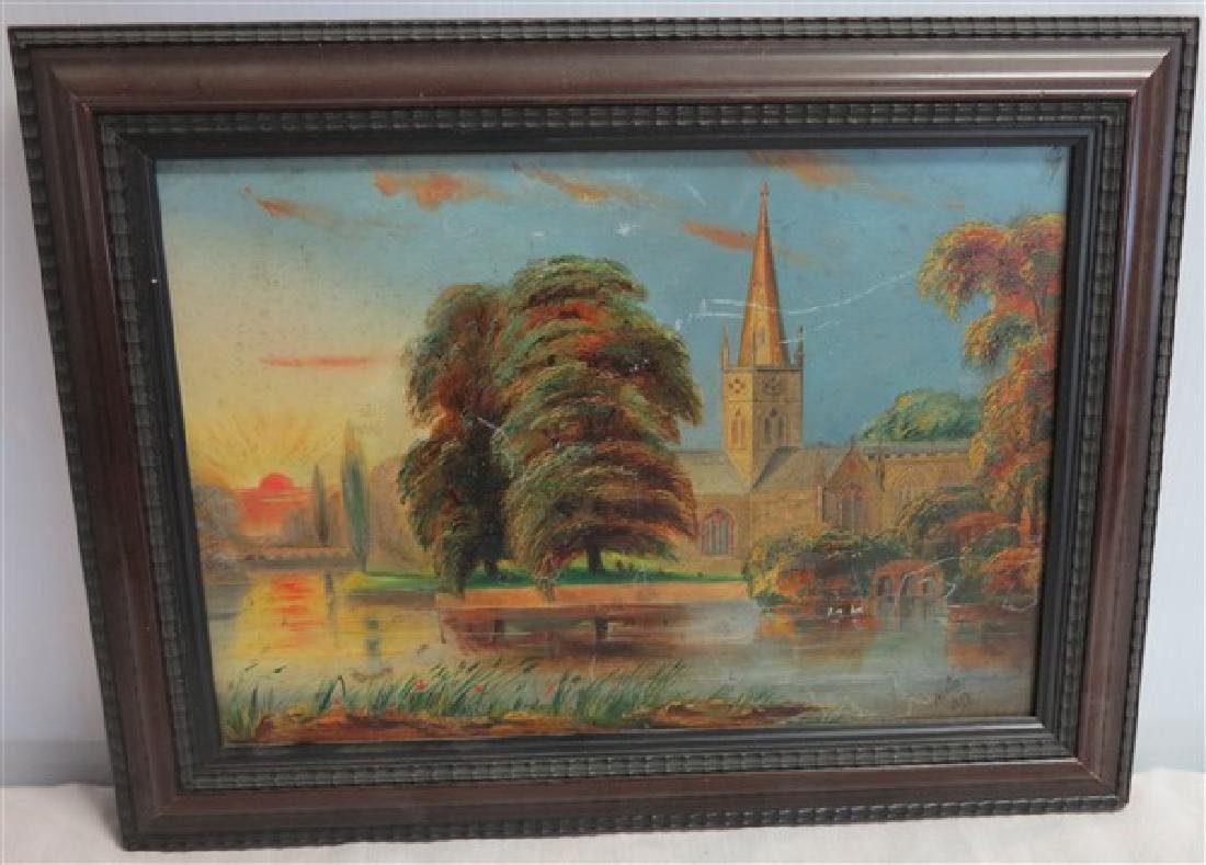 Small Oil Painting on Board sgnd Felkin 1877
