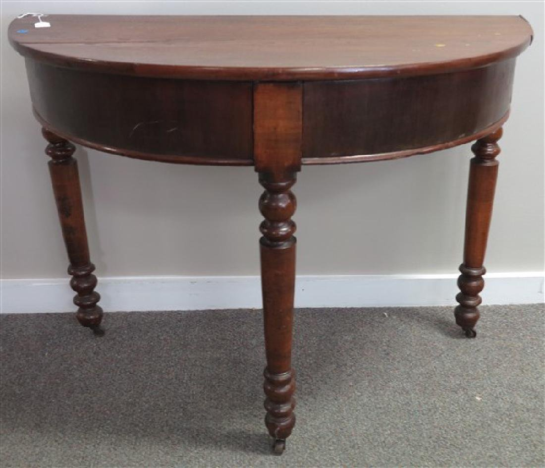 Antique Half Round Table