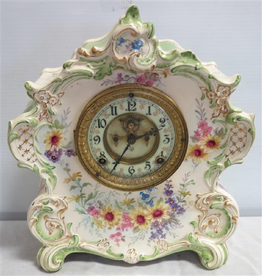 Royal Bonn Porcelain Ansonia Clock