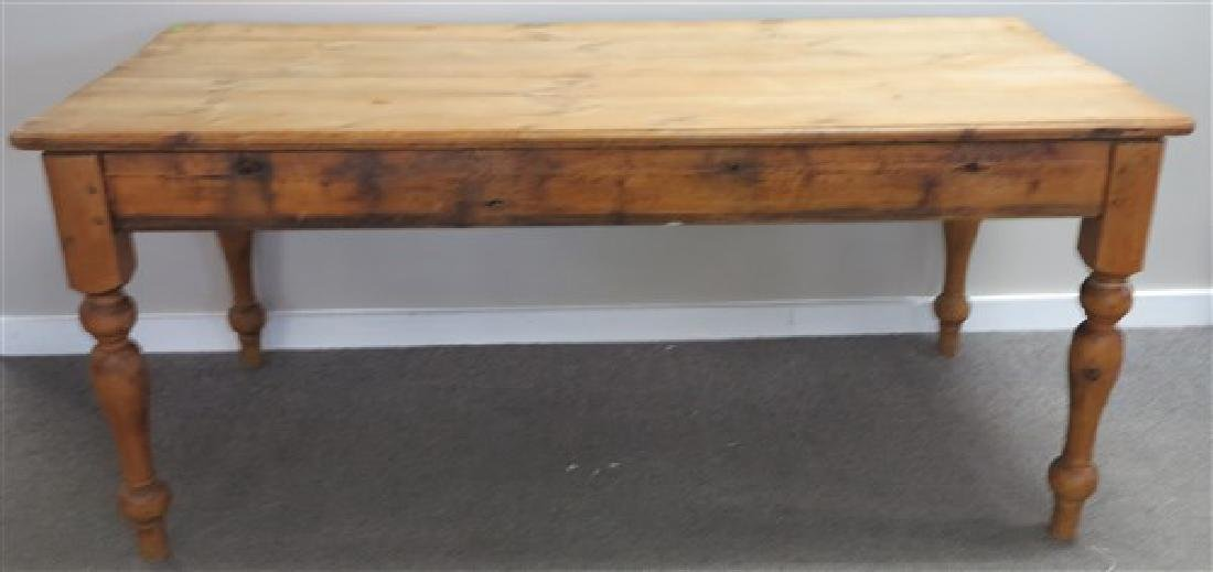 "6' Pine Farm Table- 36""W"