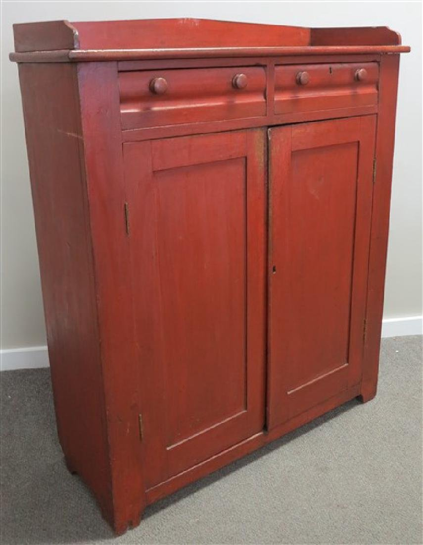 "Red Cupboard 47""w x 56""h x17""d"