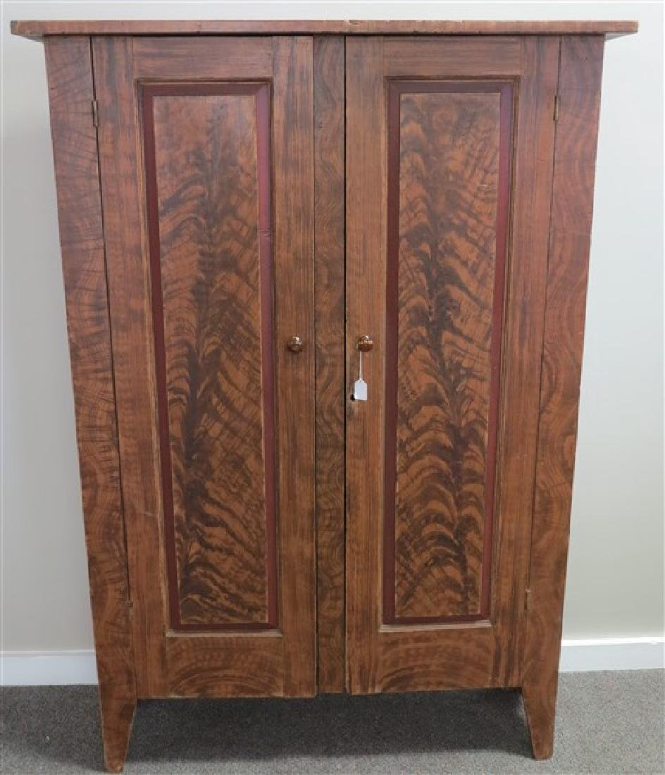 19th Cent Grain Painter Cupboard