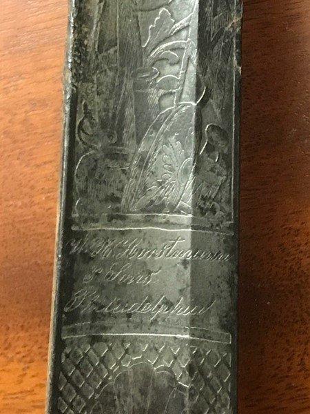 Officers' Sword- Signed W. H. Horstmann & Sons Phila. - 3