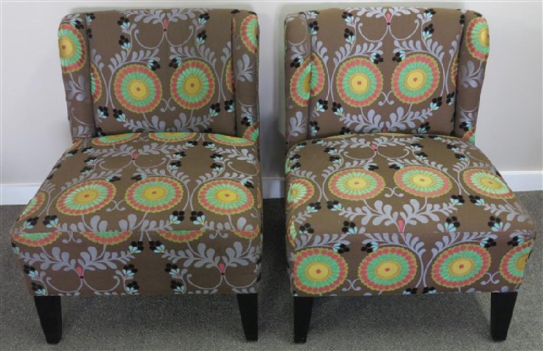 Pr Safavieh Crewel Work  design Chairs