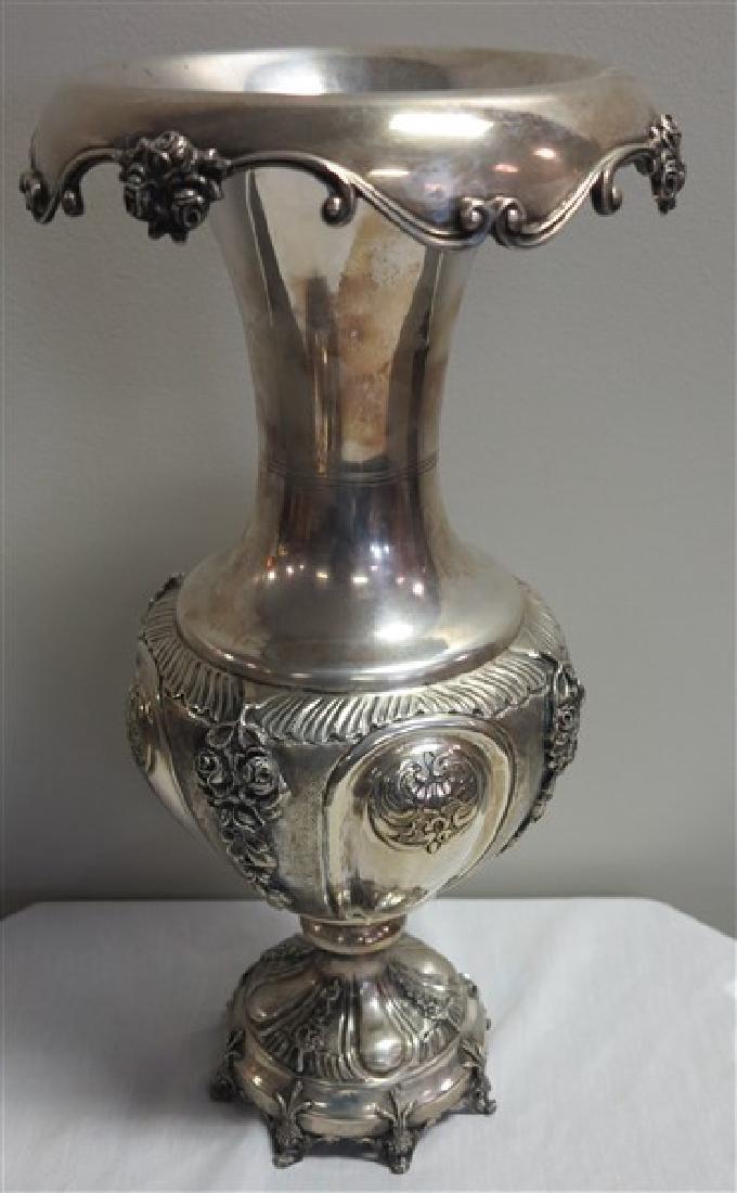 "Monumental 18"" Sterling Vase"
