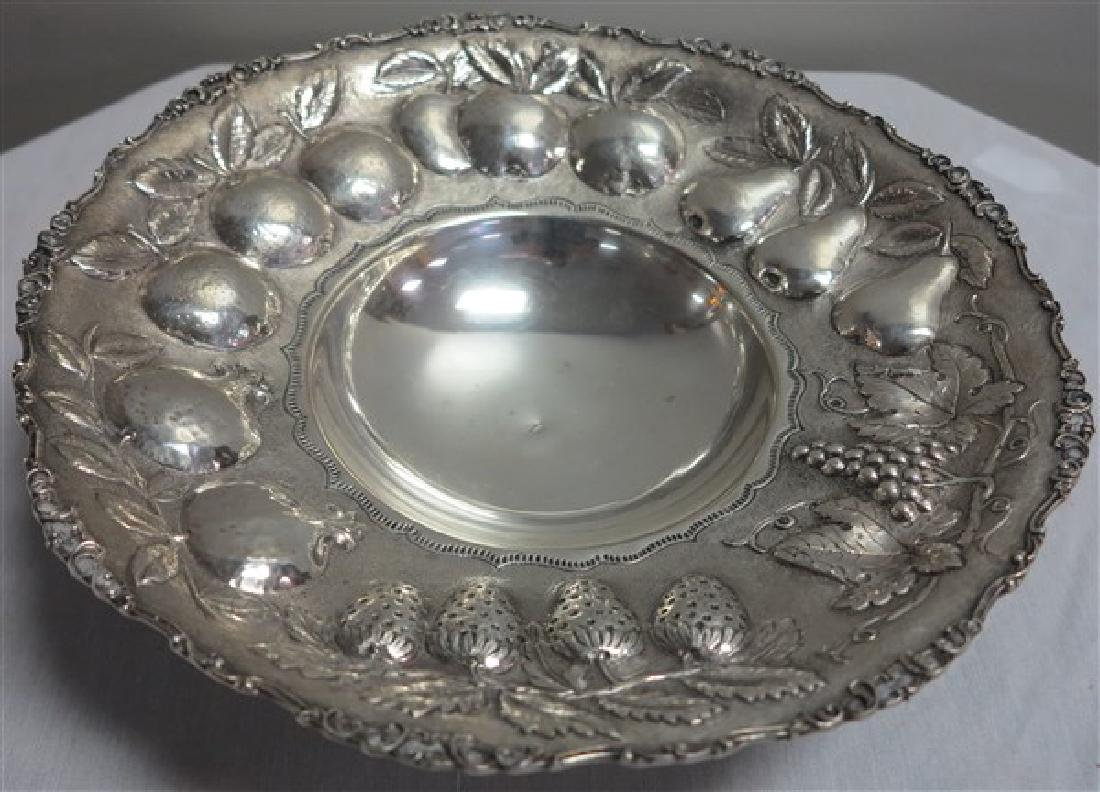 "13"" Sterling Footed Tray"