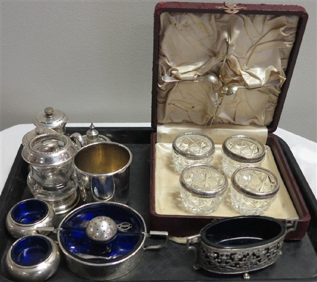 Tray Lot of Sterling Silver