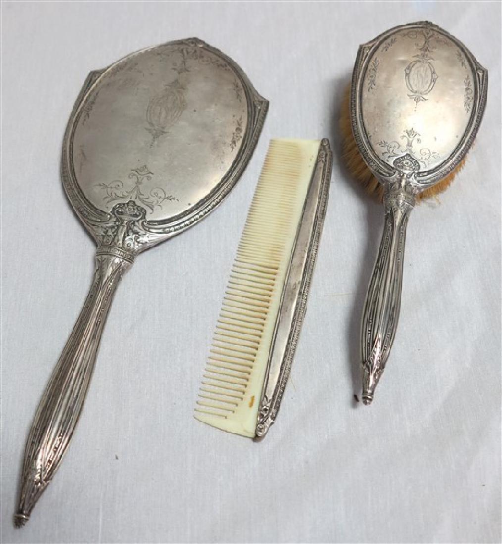 3 Pc Sterling Brush Set