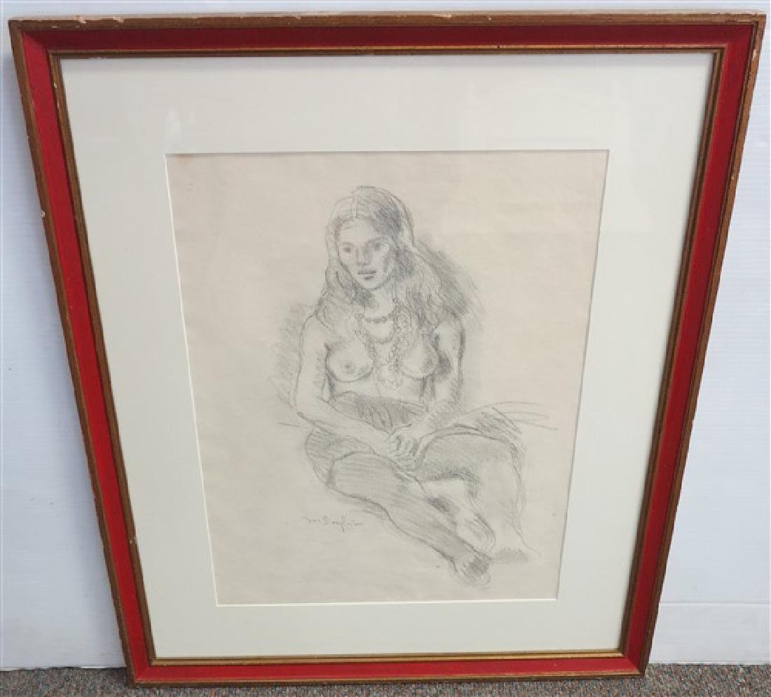 Sgnd Drawing, M. Soyer