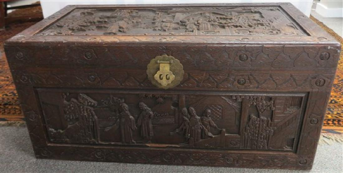 Carved Camphor Chest