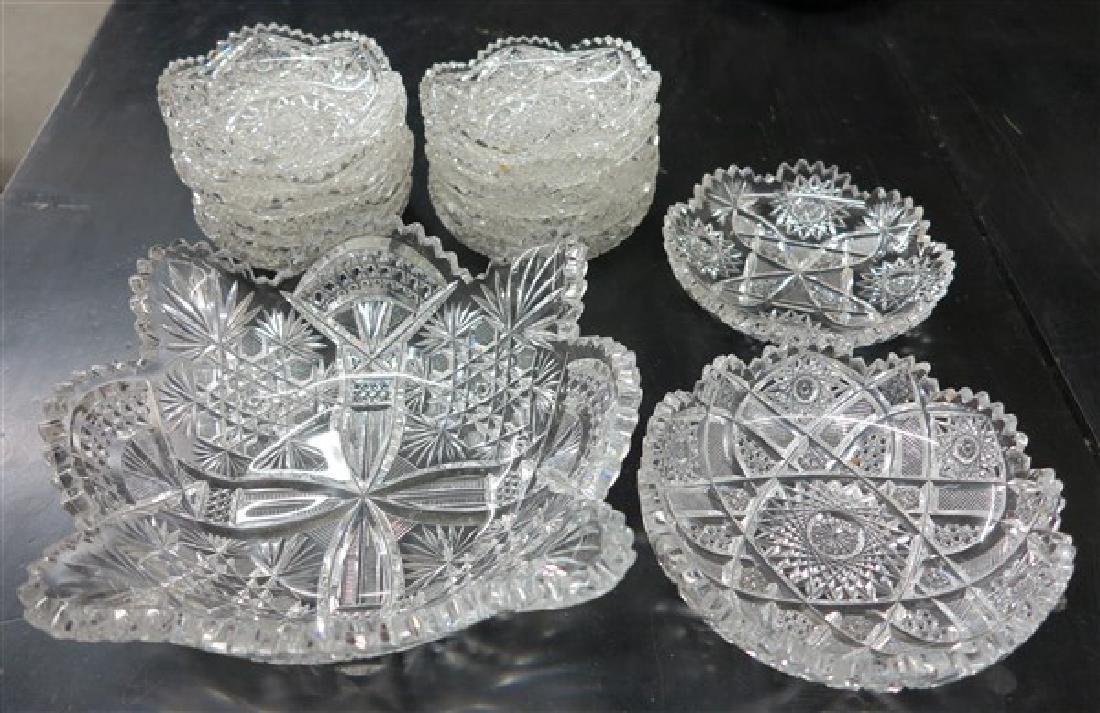 13 Pcs Cut Glass