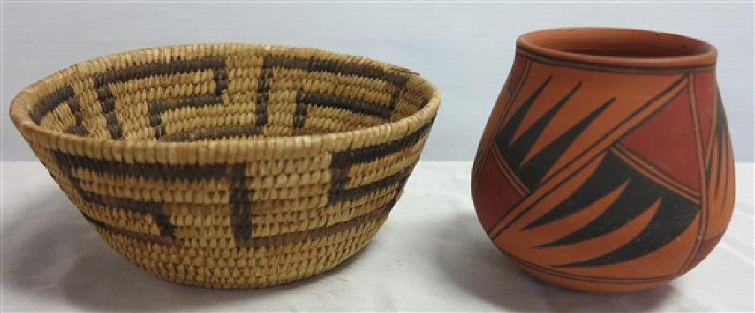 Native American Pot and Basket