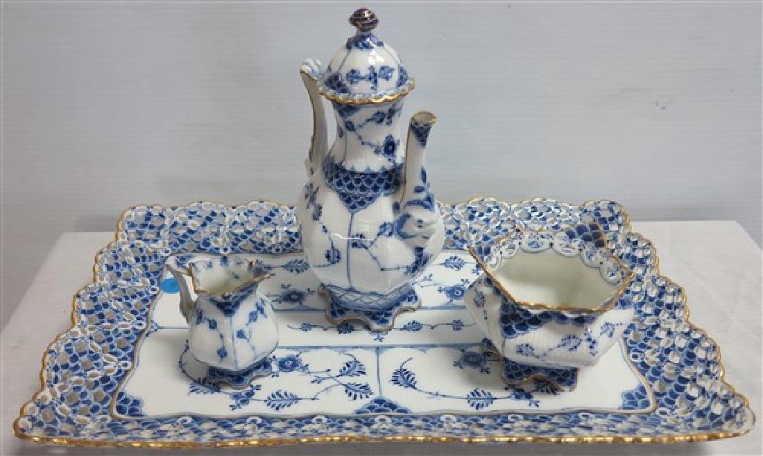 Royal Copenhagen Tea Set with Tray